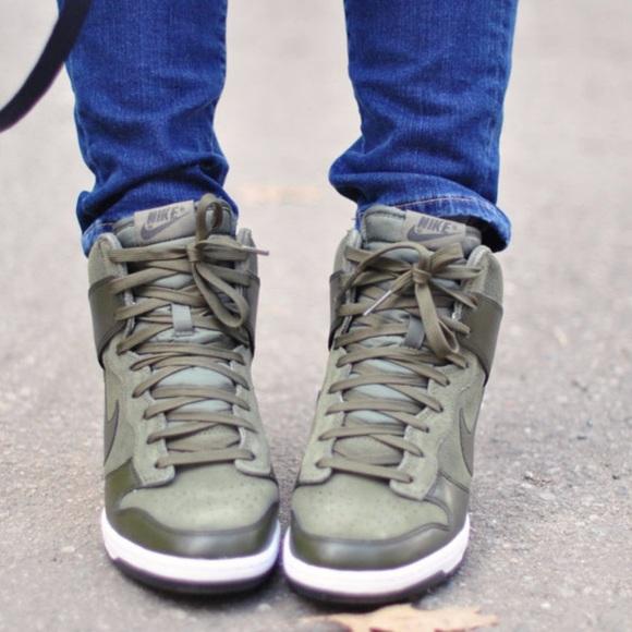 Nike Shoes   Nike Wedge Sneakers Army